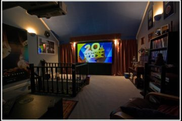 Salle de cinéma à la maison